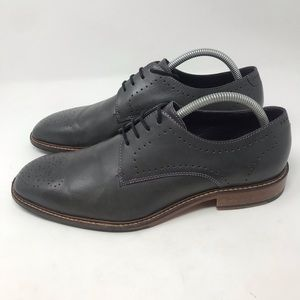 Ted Baker Marar Oxford gray with purple stitching